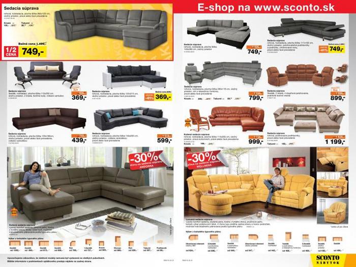 Každý mesiac si môžete vybrať nový kus nábytku z akciového letáku s výhodnými cenami
