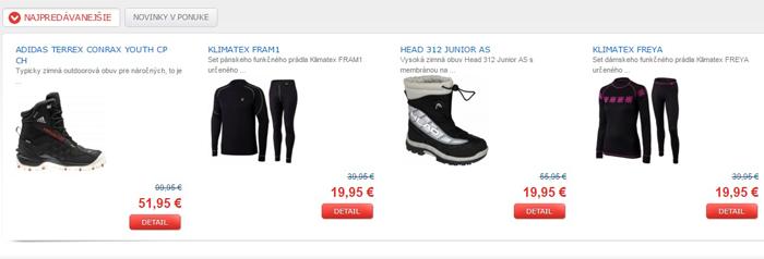 Na stránkach e-shopu objavíte aký tovar je IN a ktorý taktiež vyvoláva veľký ohlas u zákazníkov
