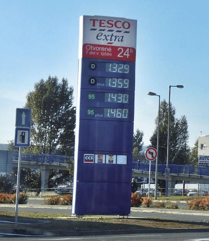 Dotankovať svoje auto môžete i na čerpacích staniciach Tesco
