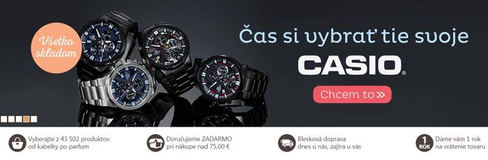 Hodinky značky Casio vedia ako zaujať, lebo sú spojením štýlu, elegancie a prijateľnej ceny