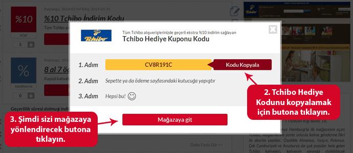 Tchibo Hediye Kodu Kullanımı