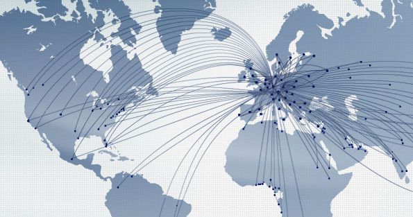 Карта полётов Люфтганзы