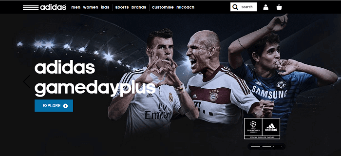 Adidas website