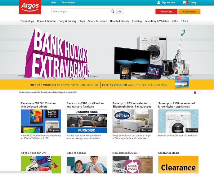 Argos online store