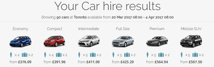 Canadian Affair car hire