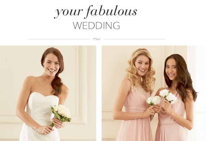 plan your wedding with Debenhams