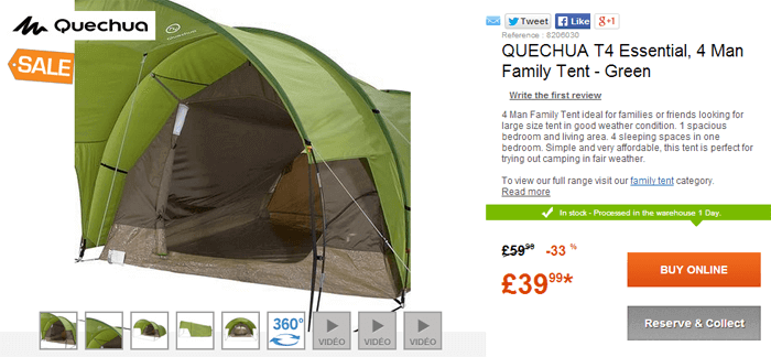 Decathlon tent