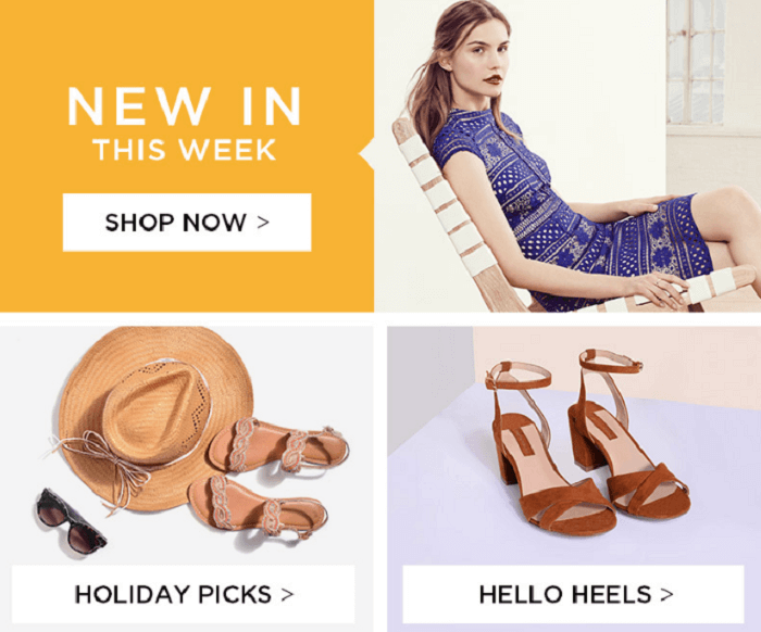 Dorothy Perkins front page