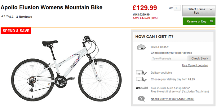 Halfords products