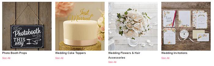 Hobbycraft wedding products