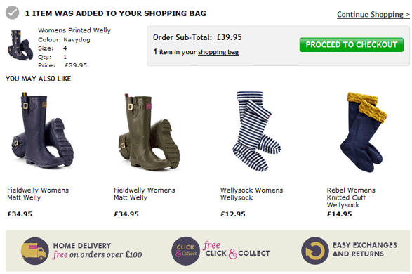 Joules shopping basket