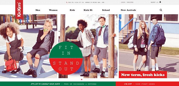KICKERS website