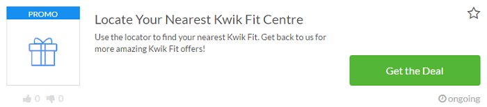Kwik Fit voucher