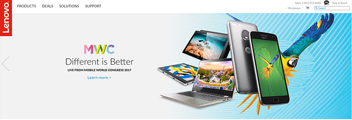 Lenovo website