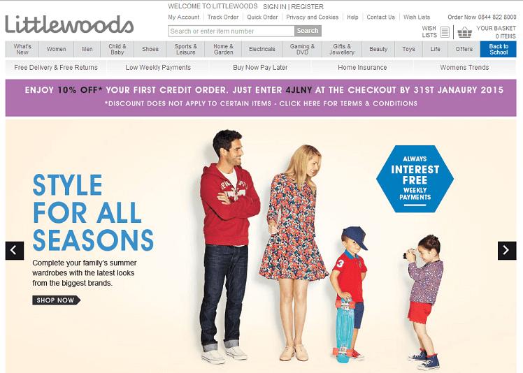 Littlewoods online store