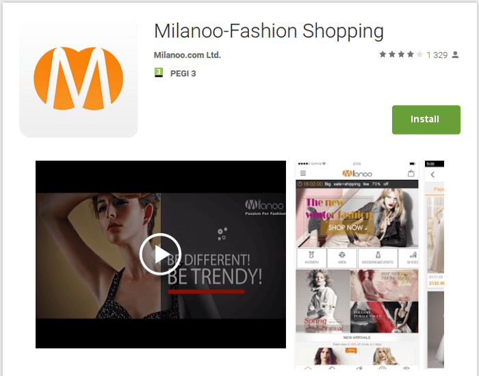 Milanoo app