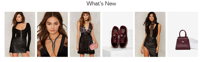 What is new at Nasty Gal