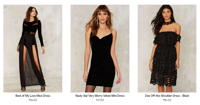 Nasty Gal dresses