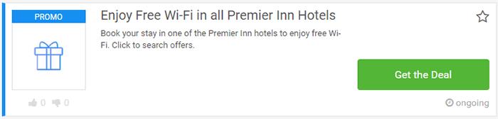 Premier Inn vouchers
