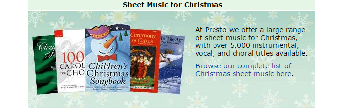 Presto Classical sheet music