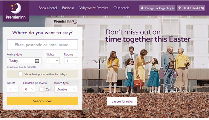 Premier Inn website