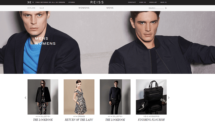 Reiss online store