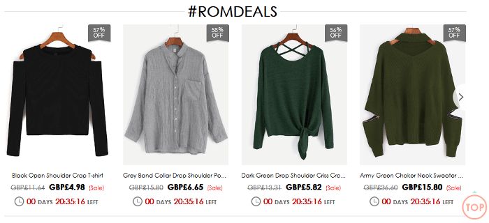 Romwe offer