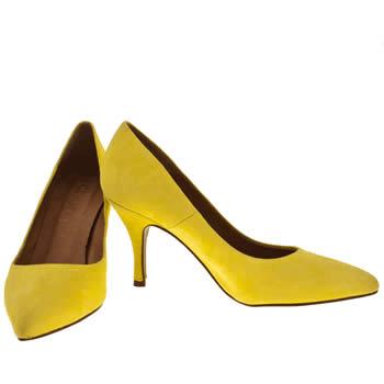 Schuh yellow high heels