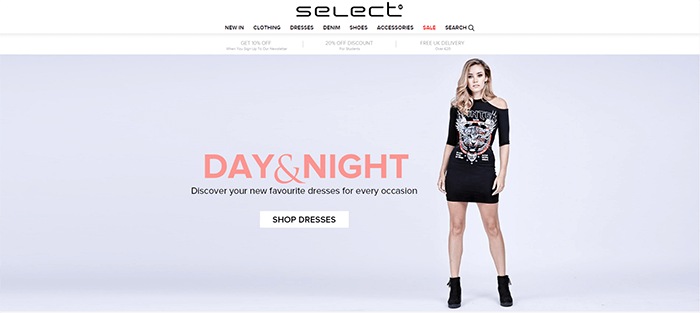 Select Fashion website