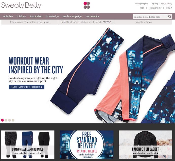 Sweaty Betty online store