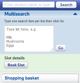 Tesco product list