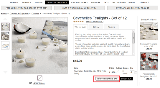 The White Company online shopping