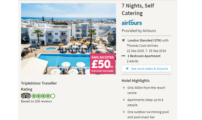 Thomas Cook search results