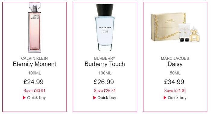 The Perfume Shop sales