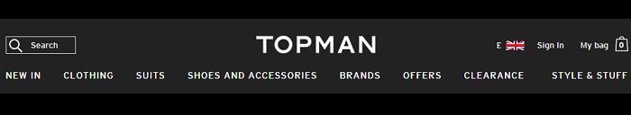 Topman website