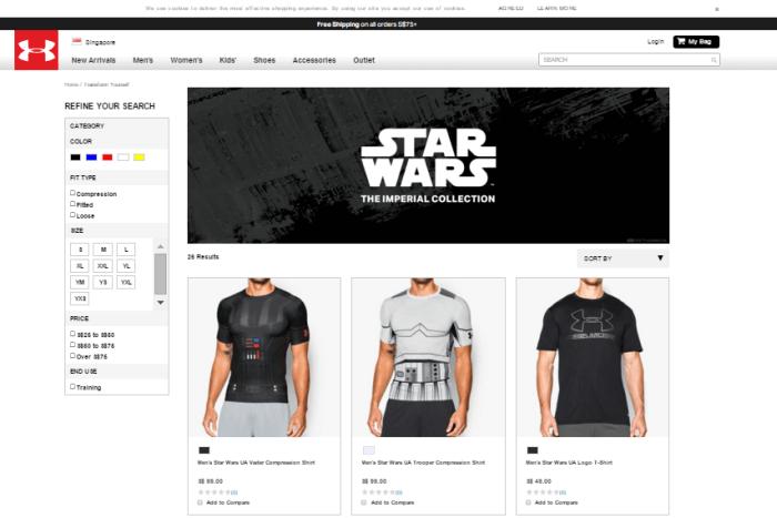 Under Armour online shop
