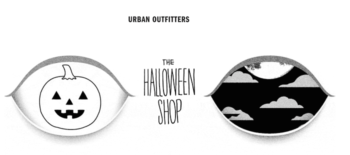Halloween shop at Urban Outfitters