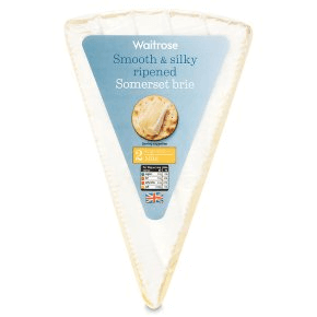 Waitrose smooth and silky somerset brie cheese