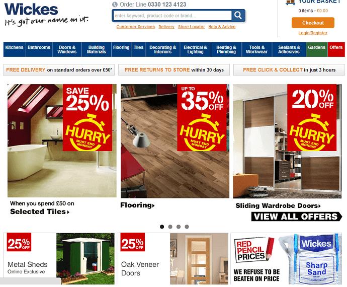 Wickes online store