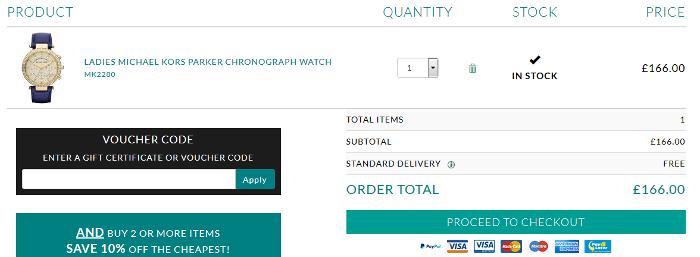 Watch Shop bag