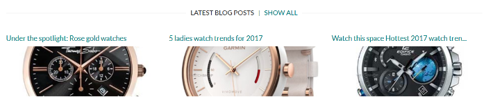 Watch Shop blog
