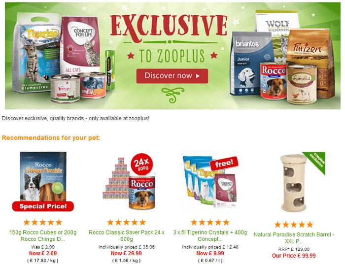 Zooplus offer
