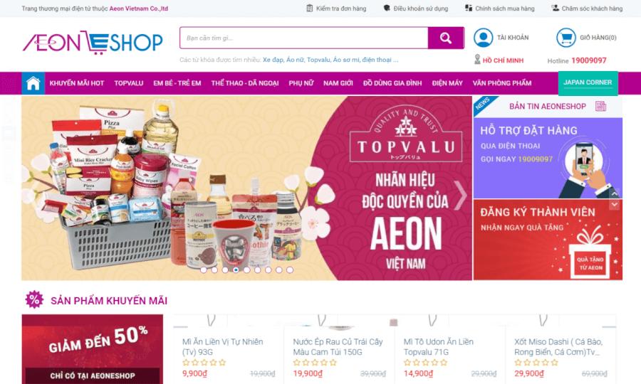 Trang thương mại điện tử AeonEshop.