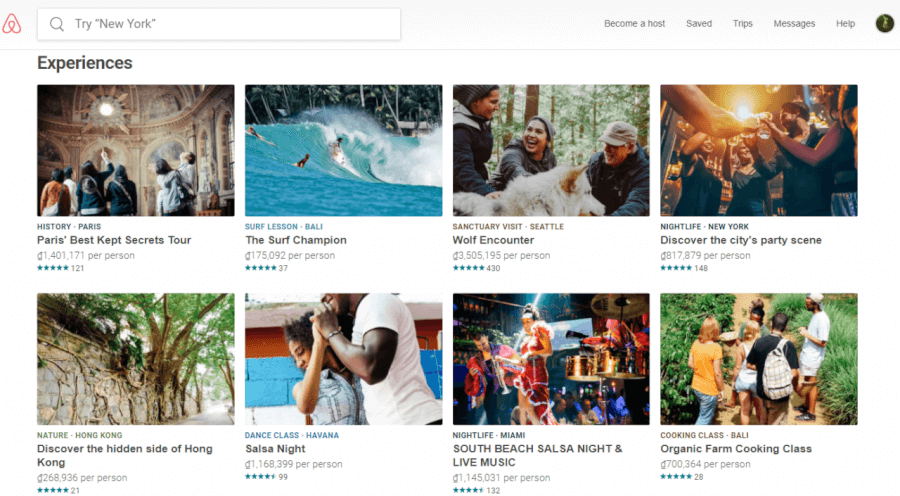 Đặt chỗ tham gia hoạt động du lịch trải nghiệm trên Airbnb.