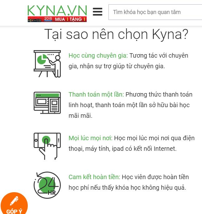 Lý do nên chọn Kyna.