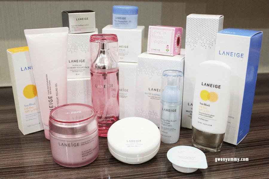 Đa dạng các sản phẩm chăm sóc sắc đẹp từ Laneige.