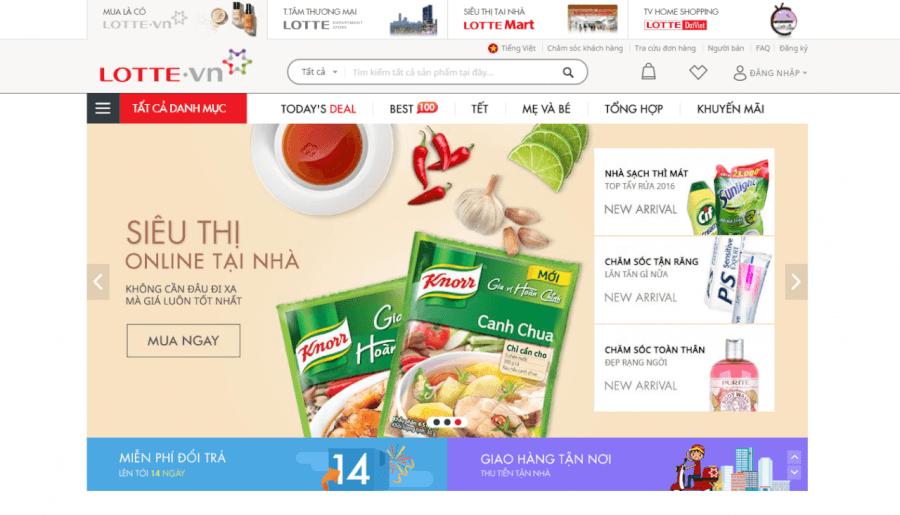 Trang thương mại điện tử LOTTE.vn
