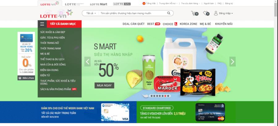 Săn tìm các mã giảm giá, voucher mua hàng trên LOTTE.vn