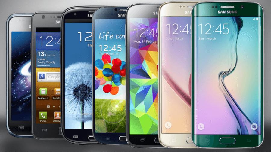Samsung với đa dạng các dòng Smartphone nổi tiếng.