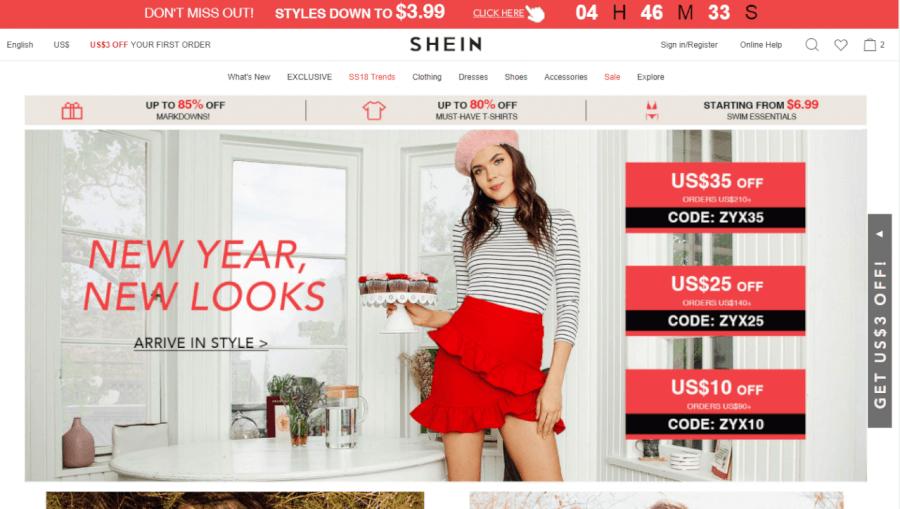 Thiên đường thời trang shein.com.